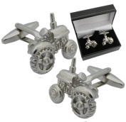 Tractor Cufflinks - Unique Tractor Gifts - supplied in a cufflink gift box