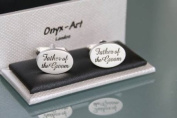 Novelty Mens Cufflinks - Father of the Groom - Wedding Gift