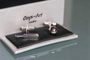 Novelty Mens Cufflinks - Cricket Bat and Ball