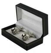 Silver Colour Knot Design Cufflinks