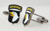 American 101st Airborne US Screaming Eagles Cufflinks with a Presentation Box