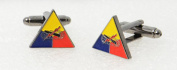 American Armoured Division US Cufflinks with a Presentation Box