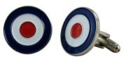 British RAF Roundel Cufflinks with a Presentation Box