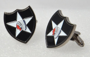 American 2nd Infantry US Indian Head Cufflinks with a Presentation Box