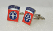 American 82nd Airborne US Cufflinks with a Presentation Box