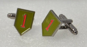 American 1st Infantry US Cufflinks with a Presentation Box