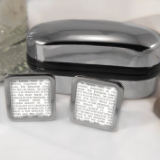 Lords Prayer Mens Cufflinks with Chrome Gift Box