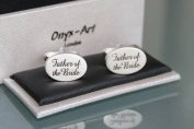 Novelty Mens Cufflinks - Father of the Bride Design
