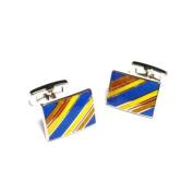 Multicolour Striped Rectangular Cufflinks
