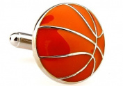 MFYS Gift For Boyfriend Cuff Links Basketball Novelty Design Cufflinks With Box