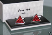 Novelty Cufflinks - Snooker Balls in Triangle Design