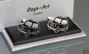 Novelty Mens Cufflinks - London Taxi Black Cab design