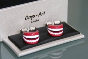 Novelty Mens Cufflinks - Set of Teeth Design