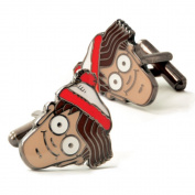 Where's Wally. Cufflinks Novelty Licenced Cuff Links Fun Stand Out From The Crowd