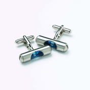 Onyx Art - Novelty Cufflinks In A Presentation Box - Blue Spirit Level - HMC75