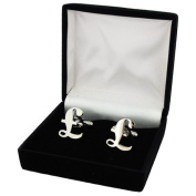 Jakob Strauss Silver Tone Pound Sign Gents Dress Cufflinks