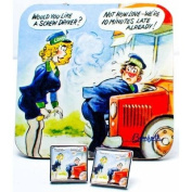 Silver Plated Cufflinks - Screw driver, Mr Bus man!