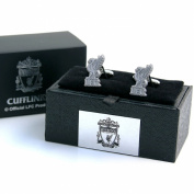 Liverpool FC Official Football Gift Chrome Executive Cufflinks