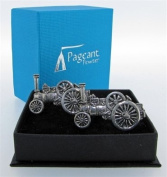Pewter Cufflinks Traction Engine