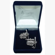 Pewter Cufflinks Mask and Snorkel