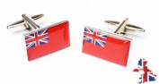 celebrate the best of british forces Red Ensign Flag Cufflinks boxed