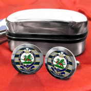 Queens Regiment Mens Cufflinks with Chrome Gift Box