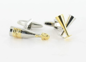 Champagne Cufflinks (CL40) by Best Cufflinks Company