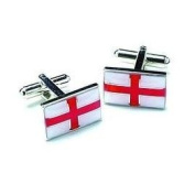 St George's Flag Enamel Cufflinks