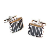 snare drum cufflinks music themed cuff links
