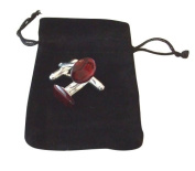 M Allen Red Abalone Paua Shell Cufflinks in Black Velvet Gift Bag