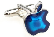 Apple Mac iPad iTouch iPhone Computer Blue Cufflinks