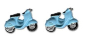 Cuff-Links Scooters Blue in Colour