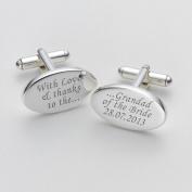 Engraved Love & Thanks Grandad of the Bride Cufflinks