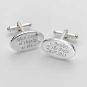 Engraved Love & Thanks Brother of the Bride Cufflinks