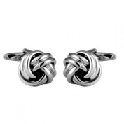 Dalaco Open Rounded Knot Rhodium Cufflinks
