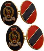 Adjutant General's Corps Gilt Enamel Regimental Cufflinks