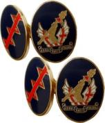 Honourable Artillery Company (HAC) Gilt Enamel Regimental Cufflinks