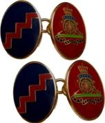 Royal Artillery Gilt Enamel Regimental Cufflinks