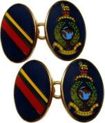 Royal Marines Corps Gilt Enamel Regimental Cufflinks