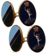 Royal Corps of Signals Gilt Enamel Regimental Cufflinks