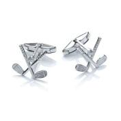 Quality UK Solid 925 Sterling Silver Golf Club Cufflinks