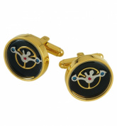 Burgmeister Cufflink MK001225 Stainless Steel IP Gold with Open Curb Pin