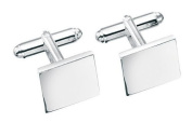 Solid Square Silver Cufflink Set