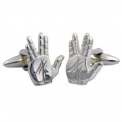 Spock Live Long & Prosper Cufflinks Sterling Silver handcrafted