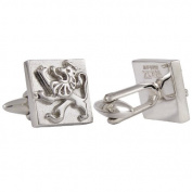 Colonial Lion Cuff Links, Sterling Silver, Handmade