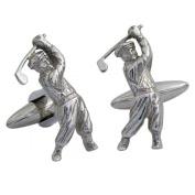 Golf Cufflinks, Sterling Silver, Handmade