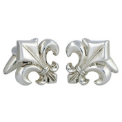 Gothic Fleur De Lis Cufflinks Sterling Silver handcrafted