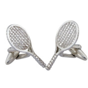 Tennis Racket Cufflinks Sterling Silver handcrafted