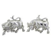 Bull/Taurus Cufflinks, Sterling Silver, Handcrafted