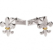 Sterling Silver Metal Fashion Cuff Link - JewelryWeb